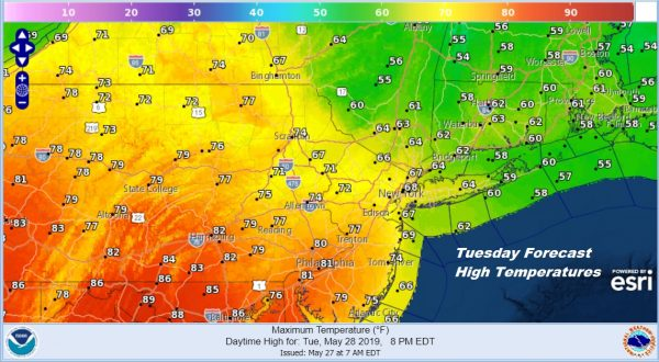 Memorial Day Terrific Weather Day Sunshine Tuesday Through Friday Unsettled
