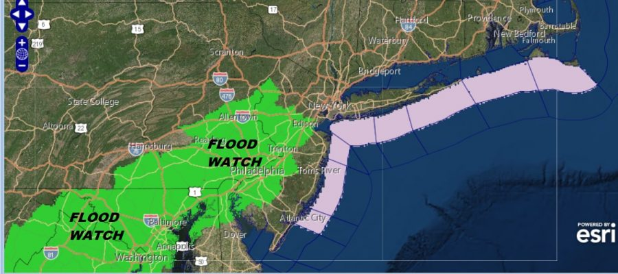 Flood Watch Sunday Parts of New Jersey Washout Sunday