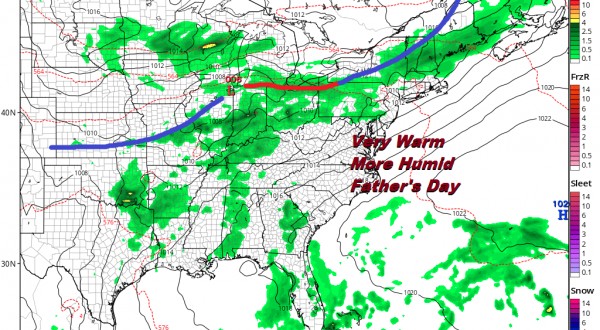 Low Pressure Heading North Cold Front Headed East Downpours Thursday Morning T'Storm Chance PM