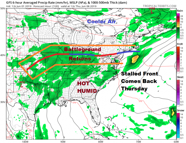 Severe Weather Risk Expanded Sunday NW New England Northeast Virginia