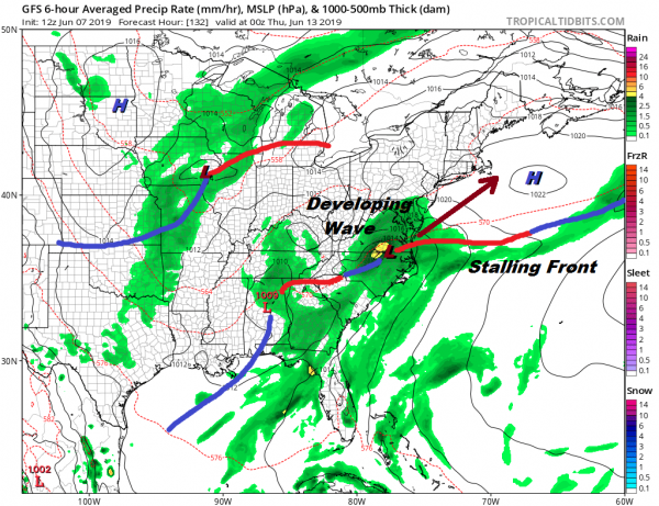 Weekend Underway Nice Weather Today Sunday, Downpours Monday Tuesday