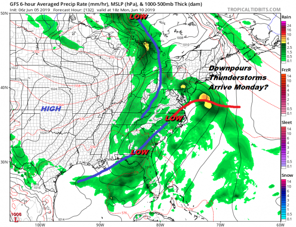 Chance Showers Thunderstorms Into Thursday Dry Nice Into Sunday