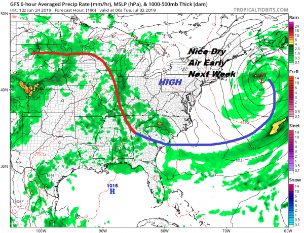 Cold Fronts Drop Southeast From Canada