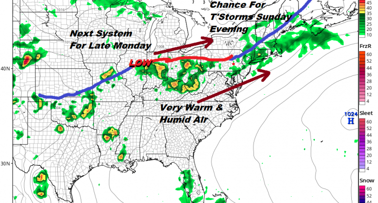 Father's Day Weekend Weather Outlook Thunderstorms Late Sunday