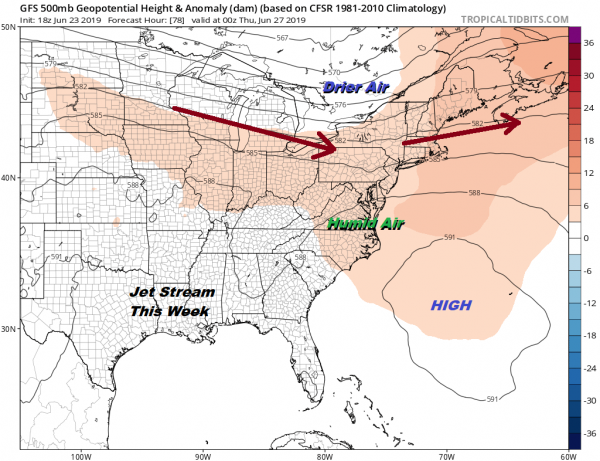 Week Ahead Transition To Very Warm More Humid Conditions