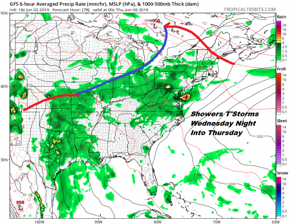 Thunderstorms Exit Cool Monday Tuesday More Storms Late Wednesday