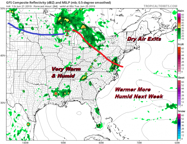 Weather Conditions Improving First Summer Weekend Nice Next Week Warmer More Humid