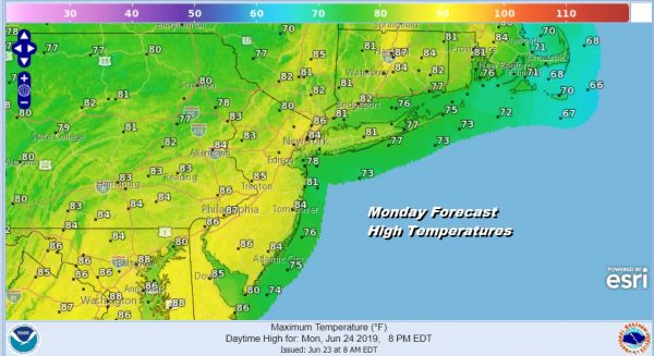 Sunday of Sunshine Low Humidity Very Warm More Humid Week Ahead