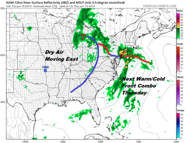 Downpours Underway Weather Improves Tuesday Wednesday