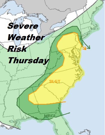Flood Watch Continues Severe Weather Threat Thursday Nice Weekend Ahead