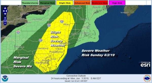 Severe Thunderstorm Risk Late Today Very Cool Start to New Week
