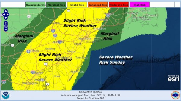 Weekend Begins Some Sunshine Thunderstorms Severe Weather Risk Late Sunday