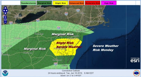Downpours Thunderstorms Threaten All Week Severe Weather Risk Today Tuesday