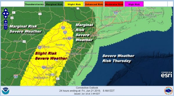 Flash Flood Watch New Jersey Pennsylvania South, Rain Into This Afternoon