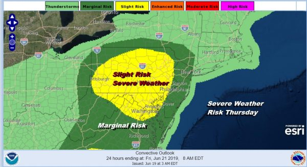 Showers Around Today Severe Weather Risk Thursday Friday Weekend Outlook