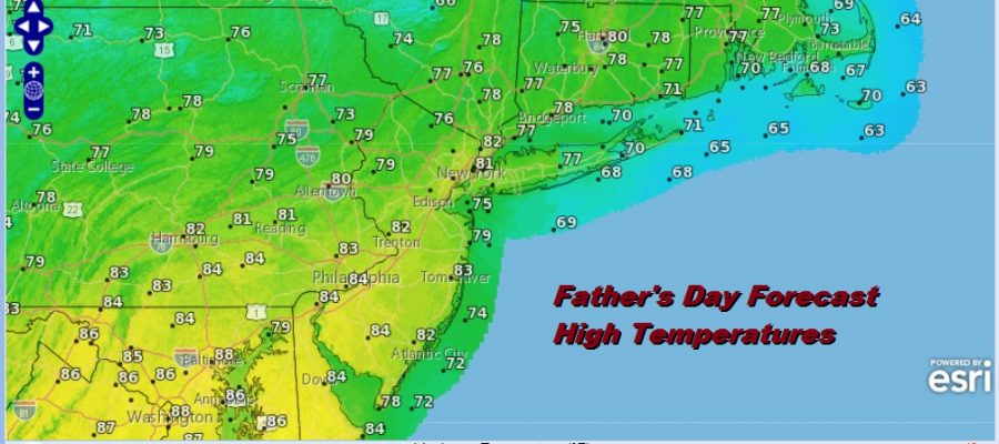 Weekend Underway Nice Saturday More Humid Father's Day Late Thunderstorms