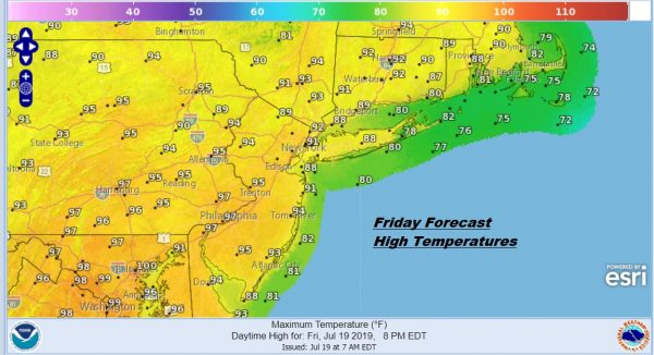 Heat Begins Today Once Clouds Depart. Very Hot Humid Weekend