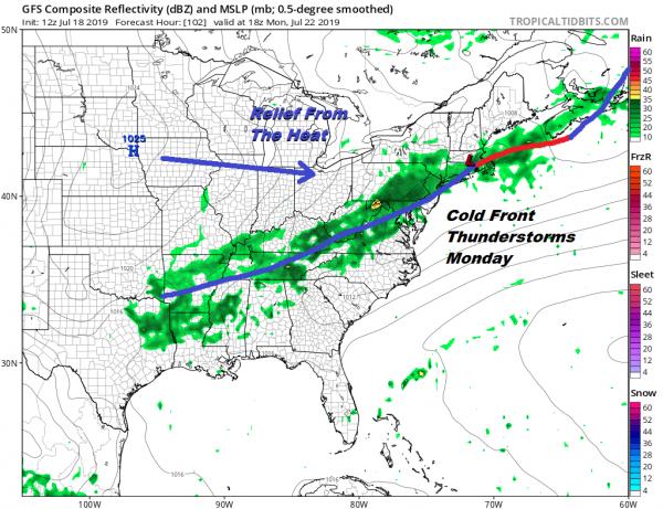 Downpours Thunderstorms Firing Up On Radar Heatwave Friday Through Sunday