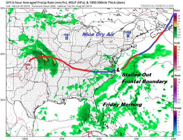Another Warm Humid Night Severe Weather Risk Wednesday