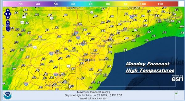 Sunshine Summer Weekend Humidity Increases Into Next Week
