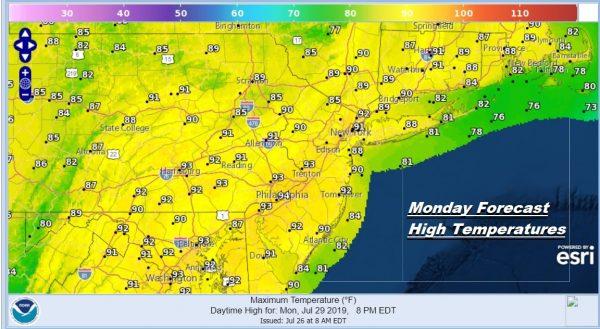 Sunshine Summer Weekend Humidity Increases Into Next Week