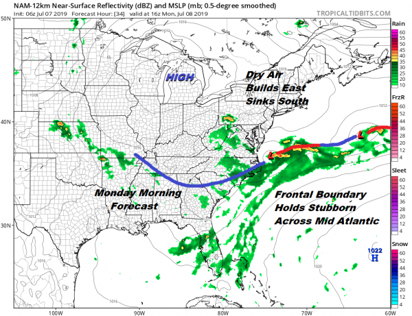 Weather Conditions Generally Improve Today Lower Humidity Starts New Week
