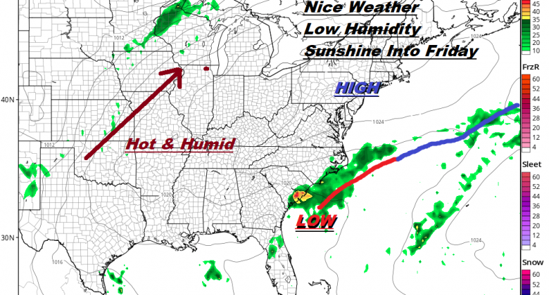 Cold Front Very Slowly Moving Eastward Improvement Comes Wednesday