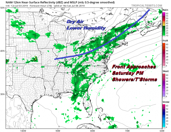 Minimal Thunderstorms Tonight Thursday, Saturday Severe Weather Threat Late Day