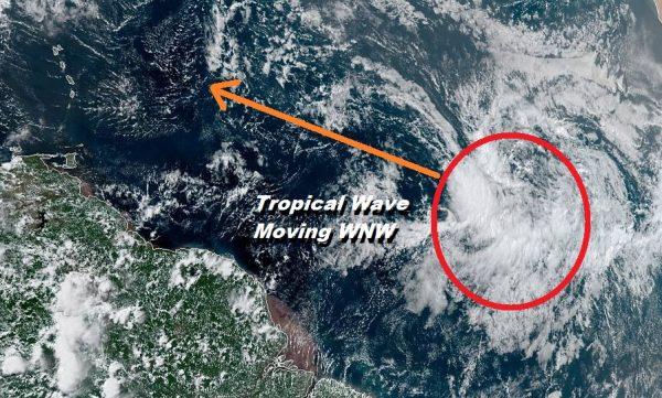 Tropical Wave In The Eastern Atlantic Could Develop Over the Weekend