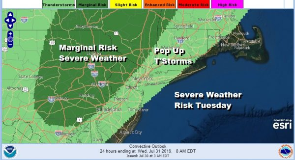 Severe Weather Risk Today Wednesday Hot Humid Weather Continues