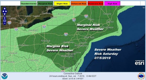 Summer Weather Continues Severe Weather Risk Grows Late Saturday