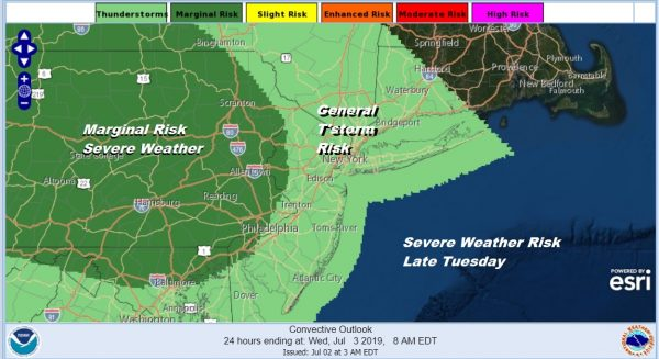 Humidity Higher Thunderstorm Threat Late Today Summer Weather Continues All Week