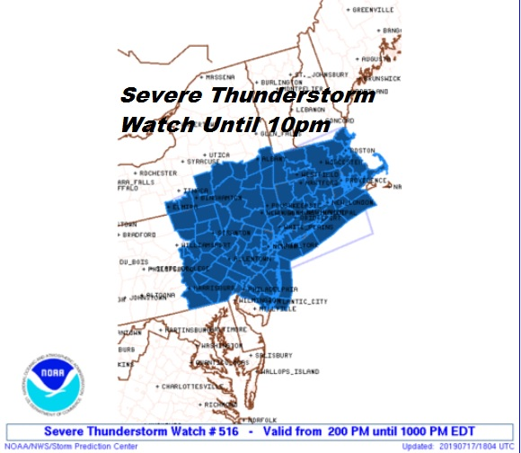 Severe Thunderstorm Watch Flash Flood Watch Heat Advisory Excessive Heat Warning
