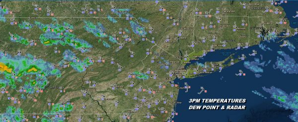 Thunderstorms Fire Up This Evening Very Warm Humid Weather Continues Into Saturday