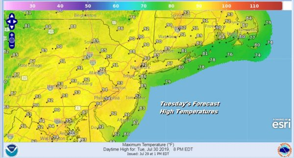 Another Hot Day Tuesday Thunderstorms Late Wednesday