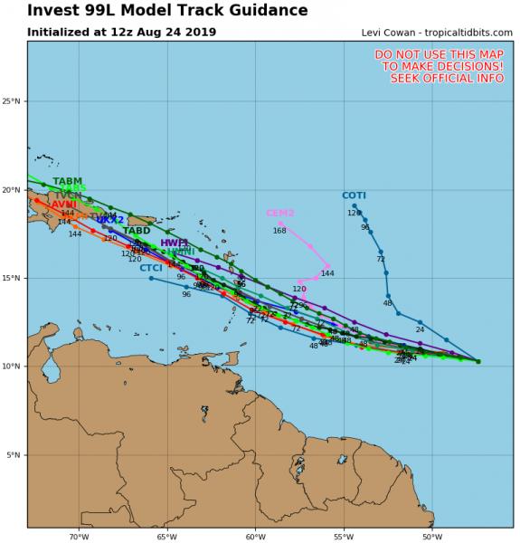 Tropical Lows Off Florida Coast & In Tropical Atlantic