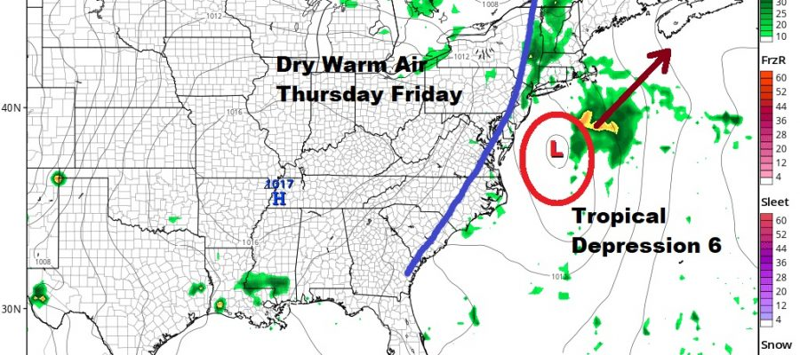 Warmer More Humid Air Headed East Chance Thunderstorms Wednesday