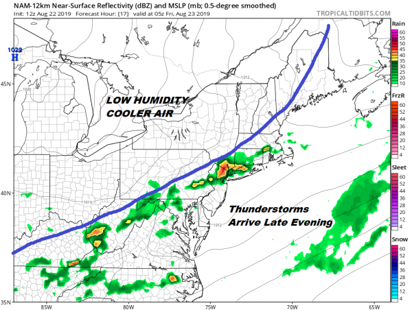 Humidity Relief On The Way Watching Thunderstorms For This Evening & Tonight