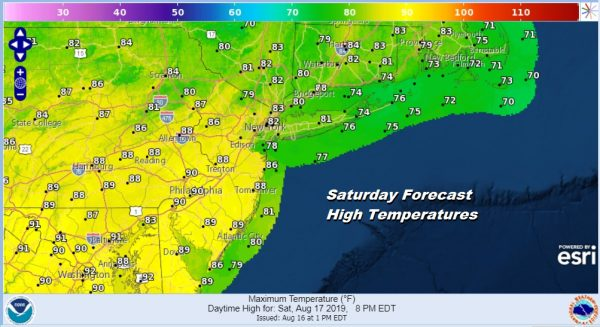 No Major Changes Heat Goes On Sunday Through Tuesday