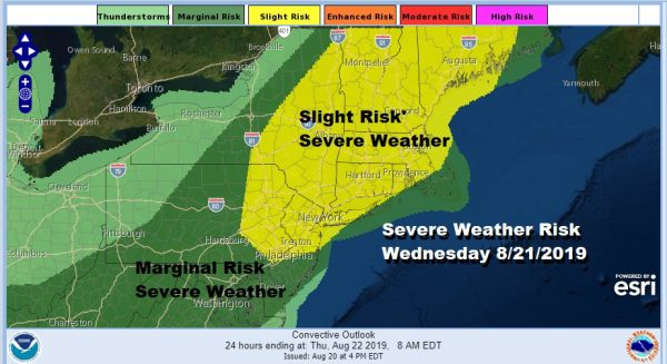 Severe Weather Risk Elevated Wednesday Weekend Humidity Relief On Course