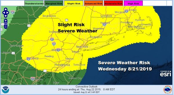 Severe Weather Risk Virginia to New England Beautiful Weekend Lies Ahead