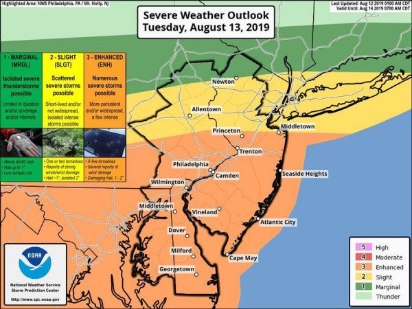 Severe Weather Risk Rises Further For Tuesday