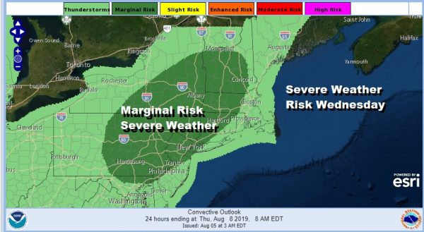 Severe Weather Risk Wednesday New Week Starts Sunny