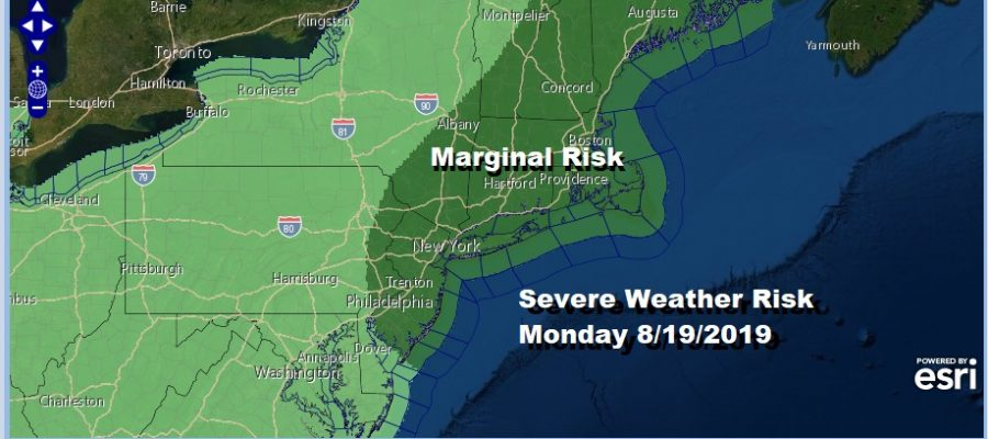 Severe Weather Risk Monday 8/19/2019