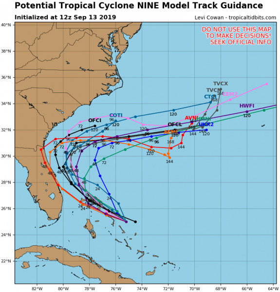 A Tropical Storm Warning is in effect for... * Northwestern Bahamas excluding Andros Island  A Tropical Storm Watch is in effect for... * Jupiter Inlet to Flagler-Volusia County line