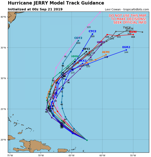 Hurricane Jerry Moving West Northwest Bermuda May See Second Hurricane In Less Than a Week