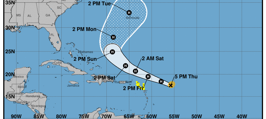 Humberto Rip Current Risk Hurricane Jerry Nearing Leeward Islands