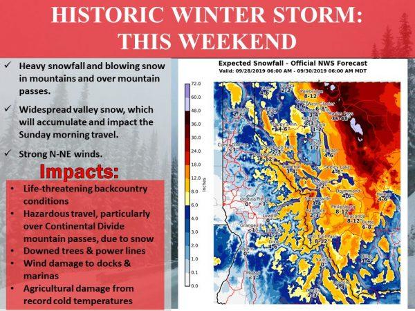 Major Snow Storm Northern Rockies Quiet Weather Continues Northeast