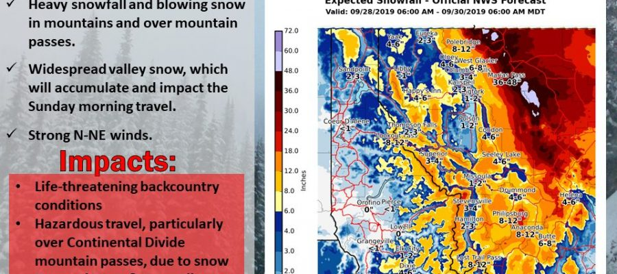 Major Snow Storm Northern Rockies Quiet Weather Continues Northeast
