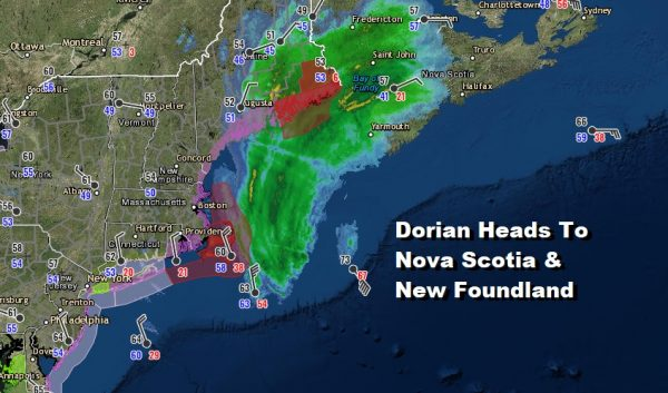 Nice Weather Mostly Rain Free Into Wednesday Dorian Nova Scotia Newfoundland